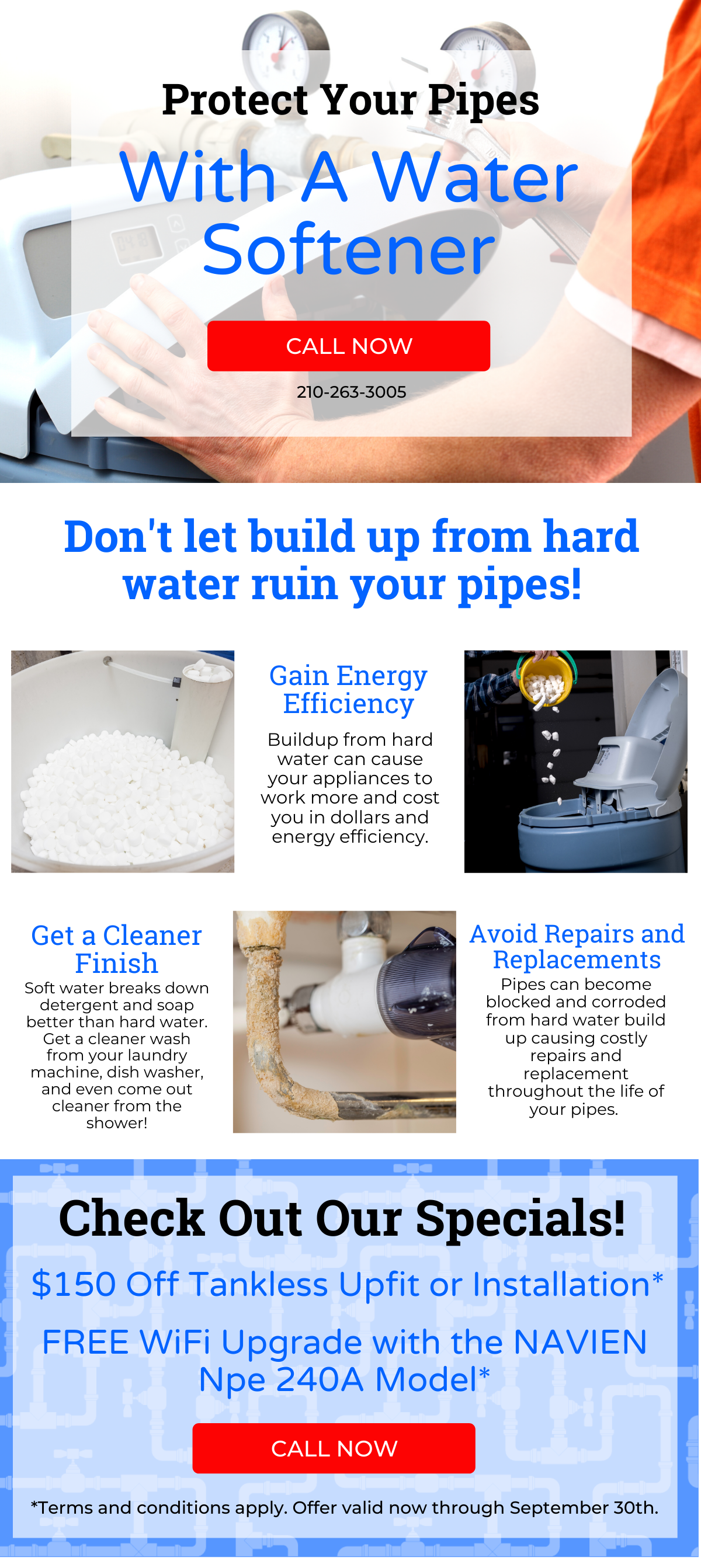 protect your pipes with a water softener